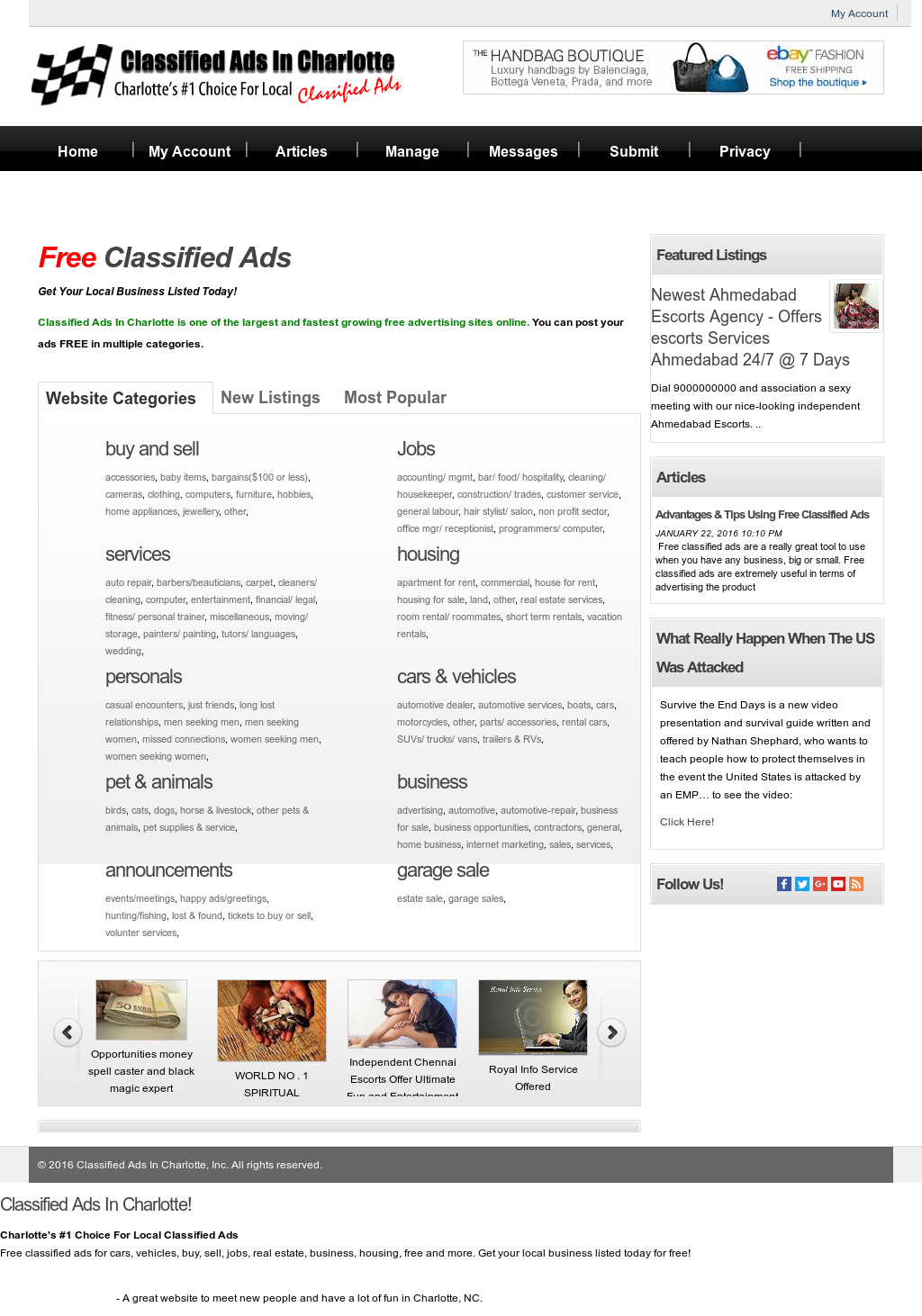 Classified Ads In Charlotte Competitors, Revenue and Employees