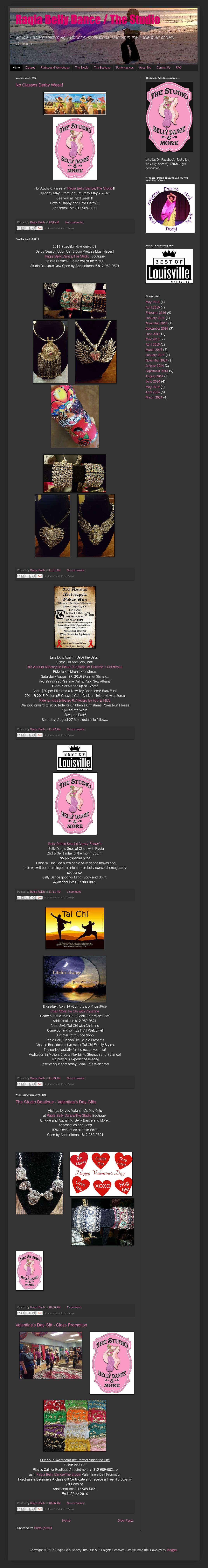 Raqia Belly Dance/the Studio Competitors, Revenue and