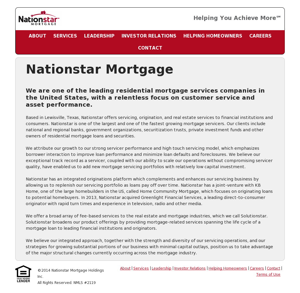 Nationstar Mortgage Company Profile  Owler. Desert Spine Institute Numbness In Lower Back. Plumbing Toilet Installation. First Time Home Buyers California. Universities Near Maryland Amor Latino Radio. Black Ops Computer Game Party Plastic Glasses. Web Design Package Pricing Cisco Voip System. Joomla Speed Optimization Home Security Rates. Qualifications For Marketing