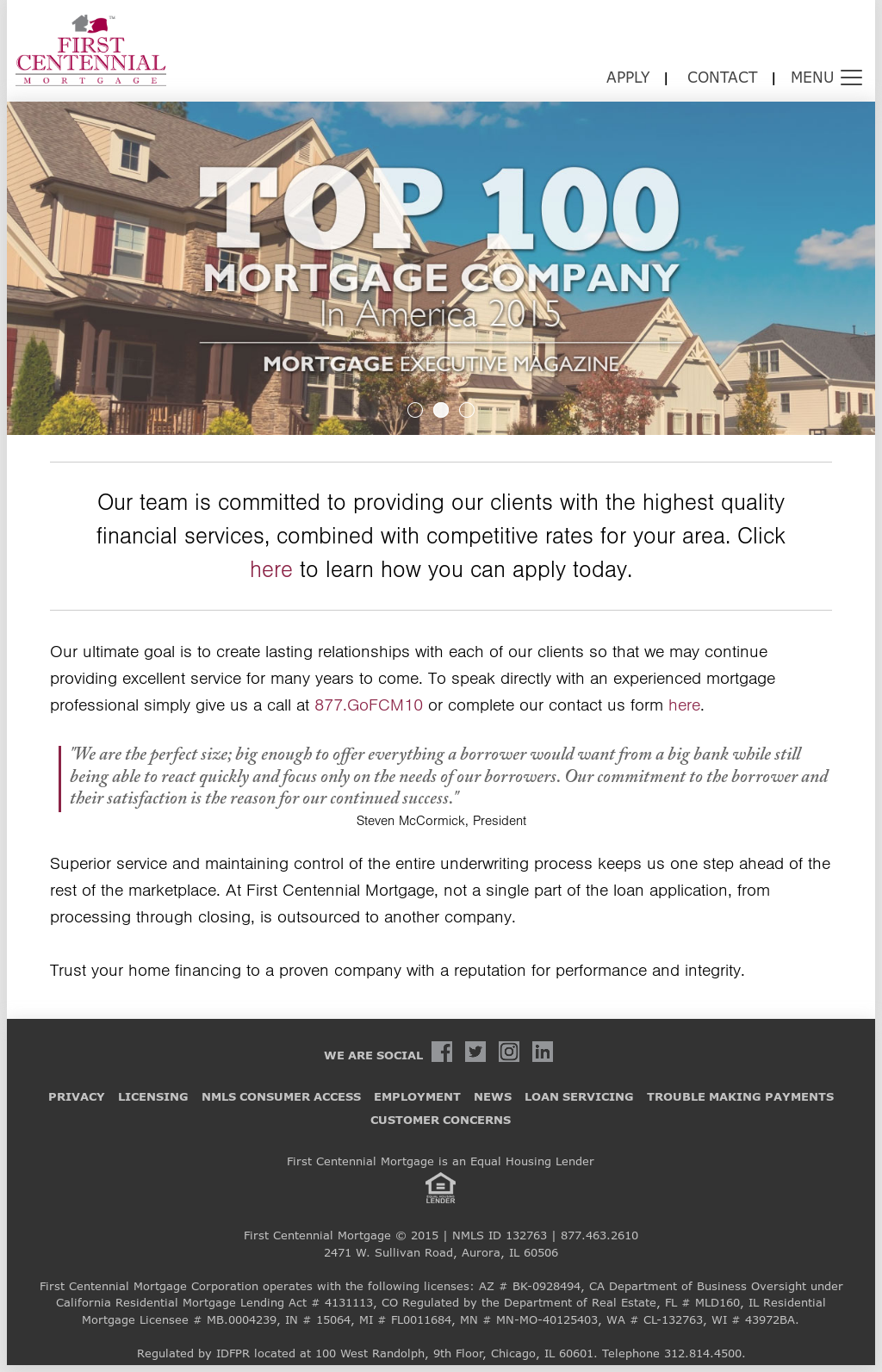 First Centennial Mortgage Competitors, Revenue and Employees