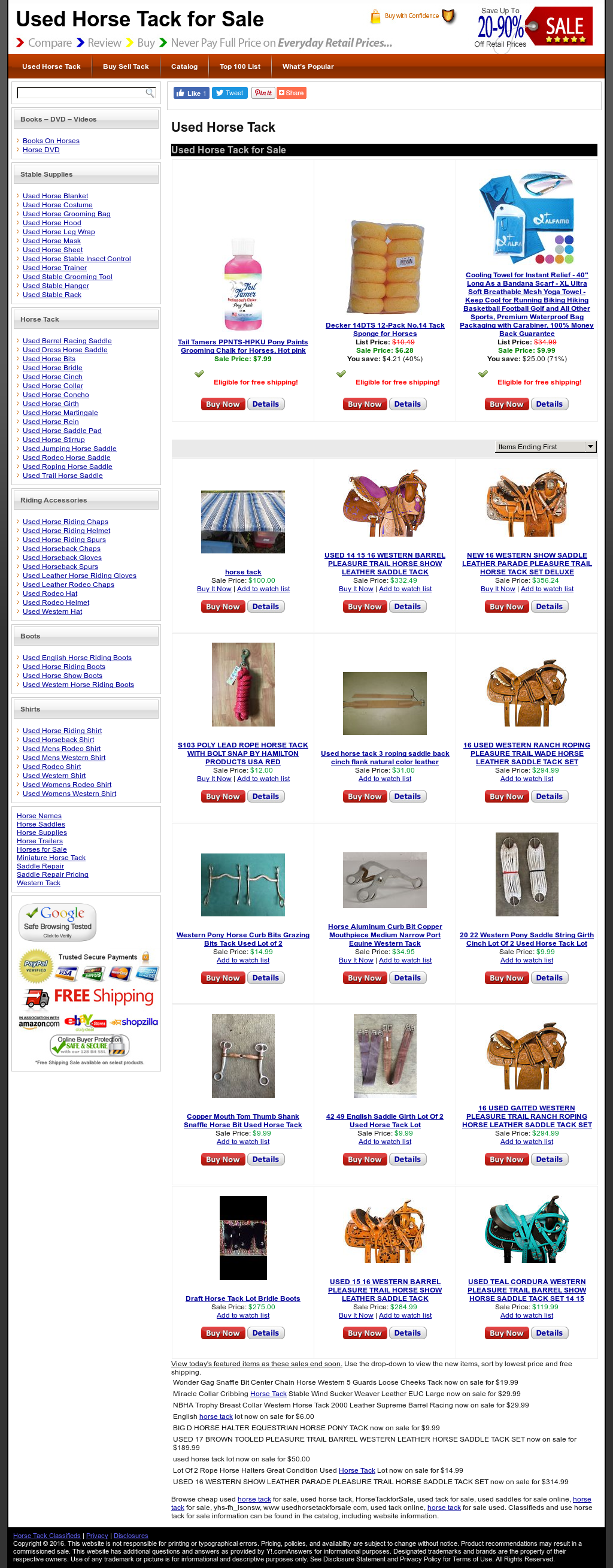 Used Horse Tack - Omnicorp Competitors, Revenue and