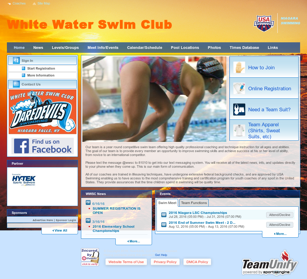 White Water Swim Club Competitors, Revenue and Employees