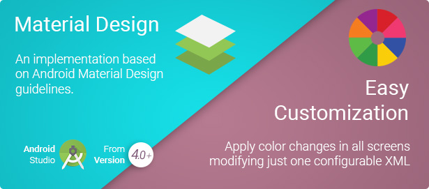 Android Material Design Template