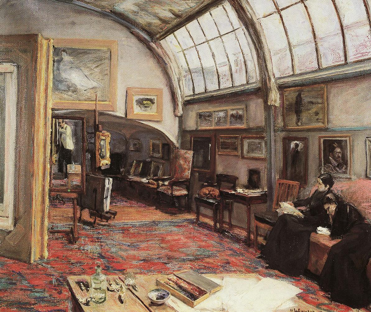 "<p><em>The Artist's Studio</em>, <span class=""numbers"">1902</span></p>"