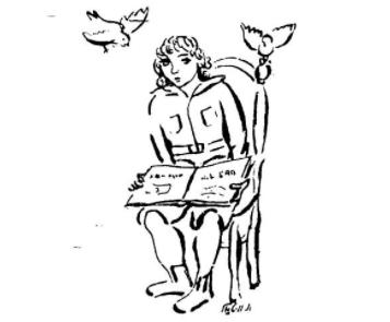 """<p>V. Vital, Illustration from Zishe Weinper, <em>Der gilderner hon</em>, <span class=""""numbers"""">1937</span>.</p>"""