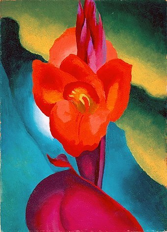 "<p>Georgia O&#8217;Keeffe, <i>Red Canna</i>, 1919, <a href=""http://www.wikiwand.com/en/High_Museum_of_Art"" class=""int-link tooltipstered"">High Museum of Art</a>,&nbsp;Atlanta</p>"