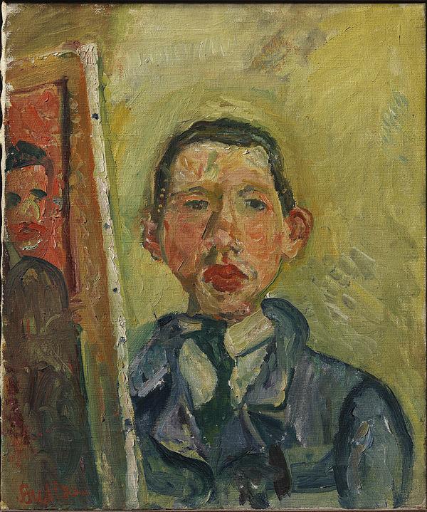 <p>Chaim Soutine,&nbsp;<em>self-portrait</em></p>