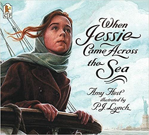 "<p>Amy Hest, <a href=""https://www.scholastic.com/teachers/books/when-jessie-came-across-the-sea-by-amy-hest/""><em>When Jessie Came Across the Sea</em></a> (Can­dlewick,&nbsp;<span class=""numbers"">1997</span>).</p>"