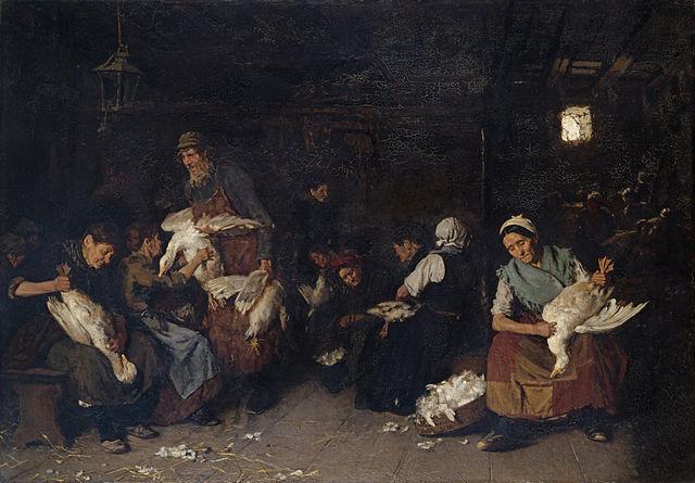 "<p><em>Women Plucking Geese</em>, <span class=""numbers"">1871</span></p>"