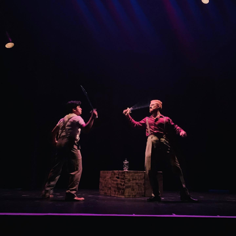 <p>Brothel owner Aron Feibush (Ben Natan) fights Toiba's love interest Feivel (Bruce&nbsp;Jimenez)</p>