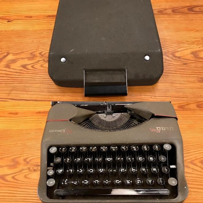 "<p>Chava Rosenfarb&#8217;s typewriter, donated by Goldie Morgentaler to the Yiddish Book Center.  See more images and read about the typewriter&nbsp;<a href=""https://www.yiddishbookcenter.org/language-literature-culture/vault/very-special-baby-typewriter"">here</a>.</p>"
