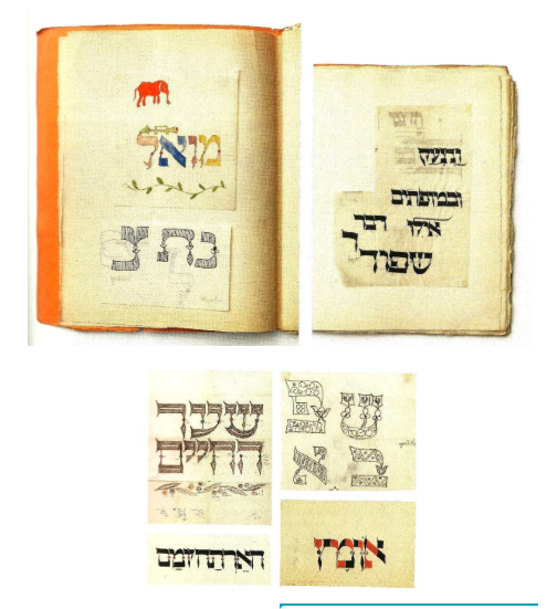 <p>Figure 12: Details of Franzisca Baruch's sketchbooks, 1920s. Above, right and left: sketchbook pages, paper pasted into sketchbook, pen and ink, watercolor drawing; below: details of sketchbook drawings, pencil, pen and ink, colored ink. From the book <em>New&nbsp;Types</em>.</p>