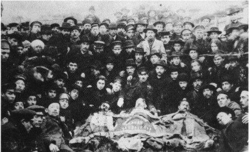 "<p>Members of the Bundist Self-Defense Group in Odessa, 1905. From <span class=""caps"">J.S.</span> Hertz, <em>Der Bund in bilder,&nbsp;1897-1957.</em></p>"