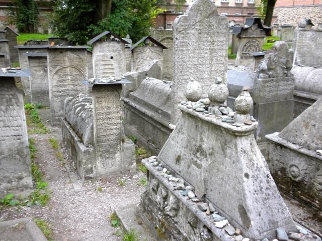 <p>Jewish gravestones in Krakow, Poland. Photograph by Rachel&nbsp;Mines</p>