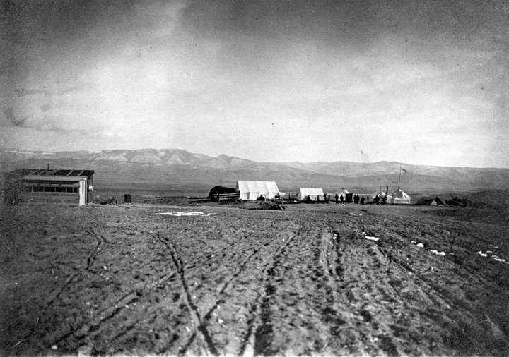 """<p>The first structures built by Jewish settlers in Clarion, Utah circa 1911, <a href=""""https://en.wikipedia.org/wiki/Clarion,_Utah#/media/File:Clarion,_Utah_circa_1911-1912.jpg"""">via</a> Wikimedia&nbsp;Commons.</p>"""