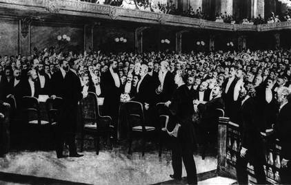 <p>Delegates At First Zionist Congress, 1897 (Wikimedia Commons)</p>