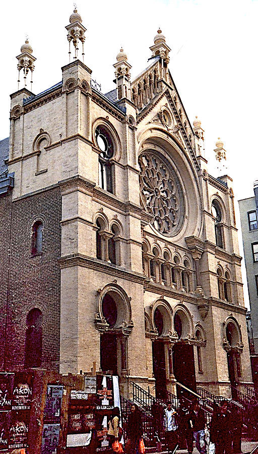 "<p>The Eldridge Street Syn­a­gogue. <a href=""https://commons.wikimedia.org/wiki/File:EldridgeStreetSynagogue.jpg"" target=""_blank"">via</a></p>"