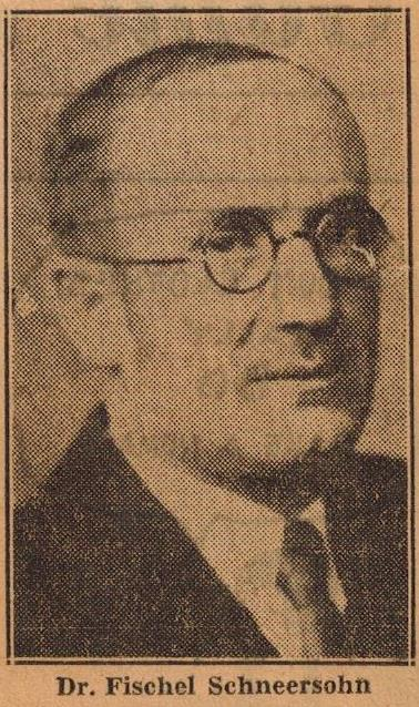 <p>Fishl Schneersohn, as pictured in the Syracuse Post Standard, 2/20/1929, upon his lecture tour in the United&nbsp;States</p>