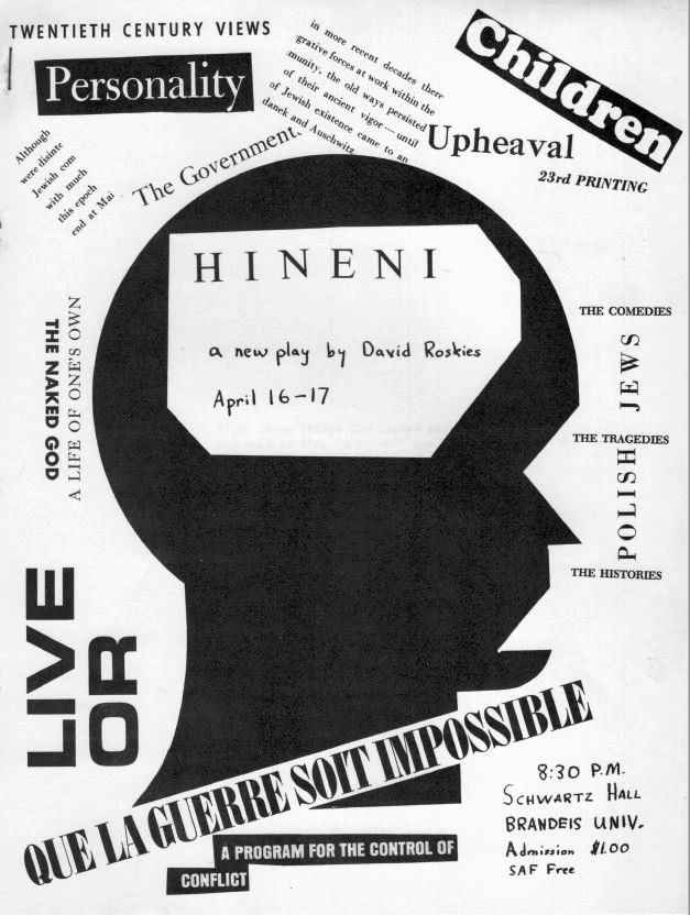 <p>Poster for <em>Hineni, </em>1967</p>