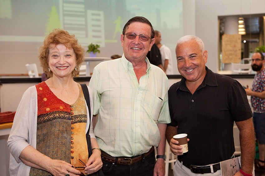 <p>Left to right:  Hana Wirth Nesher, Avrom Nowershtern, Justin Cammy; photo taken at the 2016 Naomi Prawar Kadar International Yiddish Summer Program at Tel Aviv University</p>