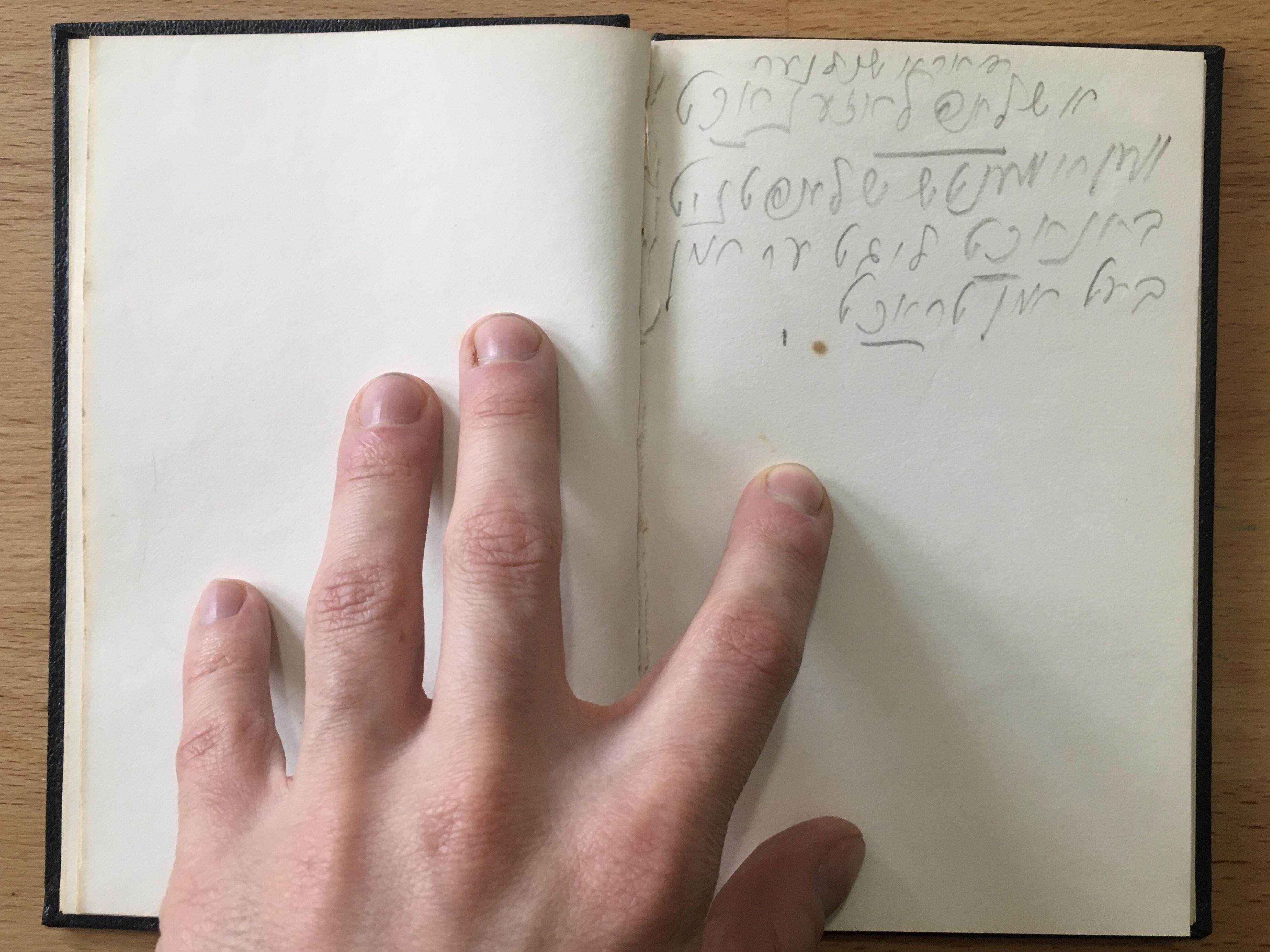 <p>Dora Schulner&#8217;s&nbsp;notebook</p>