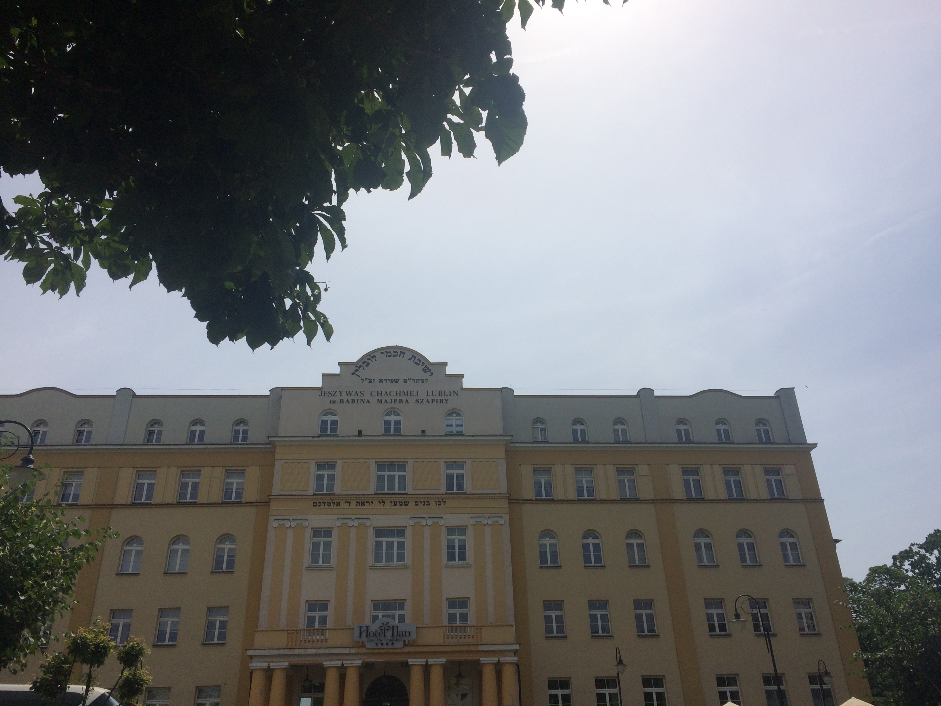 <p>The for­mer Chachmei Lublin Yeshi­va, now a&nbsp;hotel. Pho­to by the&nbsp;author.</p>