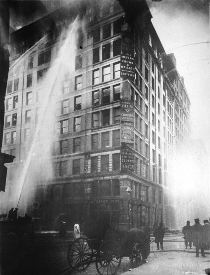 <p>After the Triangle Shirtwaist Factory fire,&nbsp;1911</p>
