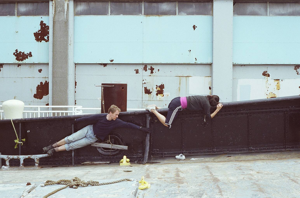 <p> Image of site specific rehearsal taken aboard the historic &#8220;Lilac&#8221; Steamship, New York. Photo: Alexx&nbsp;Shilling</p>