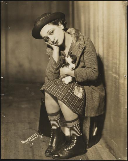 <p>Molly Picon in the <em>The Jolly Orphan</em>, 1929. Photo: Rappoport. Museum of the City of New York, Gift of Miss Molly Picon and Mr. Jacob Kalich,&nbsp;69.134.3</p>