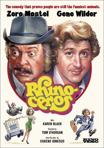<p>The film version of <em>Rhinoceros</em> starred Zero Mostel, known for originating the role of Tevye in <em>Fiddler On the Roof</em> on Broadway, and Gene&nbsp;Wilder.</p>