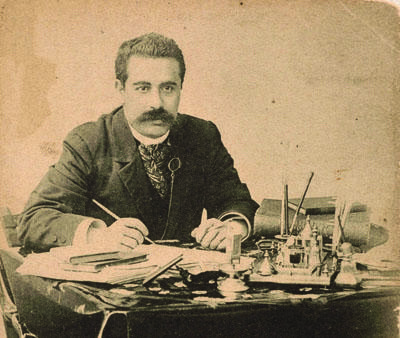 "<p>Peretz in the 1890s (via <span class=""caps"">YBC</span>)</p>"