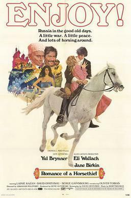 "<p>Poster for the <span class=""numbers"">1971</span> film adaptation of Joseph Opatoshu's <span class=""numbers"">1912</span> <em>Romance of a&nbsp;Horsethief </em>(<em>Roman fun a&nbsp;ferd ganef</em>).</p>"