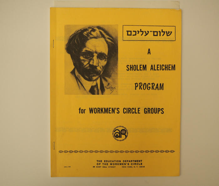 "<p>Workmen's Circle Guide to Sholem Aleichem on the fiftieth anniversary of his passing, via the Yiddish Book Center's enormously helpful <a href=""https://www.yiddishbookcenter.org/language-literature-culture/yiddish-literature/finding-aid-sholem-aleichem"" target=""_blank"">Finding Aid</a> to Sholem Aleichem.</p>"