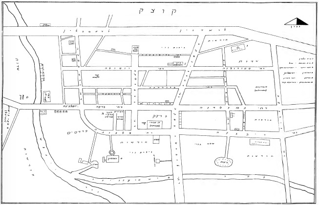 <p>Map of Kock, <em>Seyfer Kotsk,</em>1961</p>