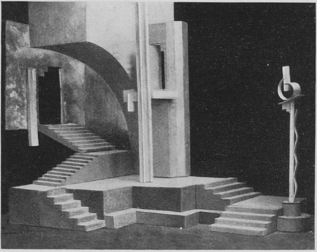 "<p>Nathan Altman, theatrical setting of a scene of ""Uriel Acosta,"" staged at the Yiddish theater in Moscow. </p>"