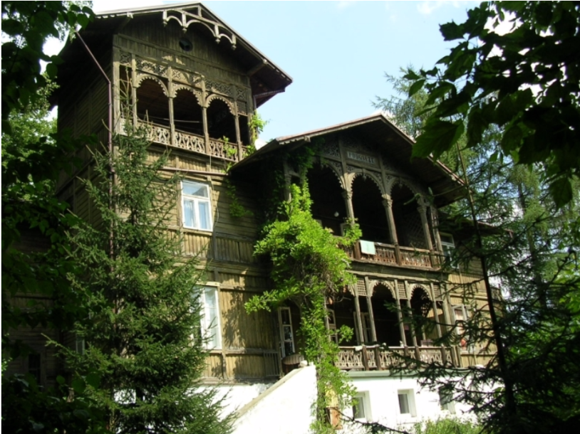 "<p>Villa ""Podgórze"" [lit. ""at the bottom of a hill""], an example of traditional wooden architecture  in Nałęczów. Courtesy Monika Adamcyk-Garbowska.<br></p>"