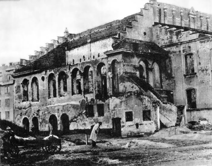 <p>The Old Synagogue&nbsp;Destroyed</p>