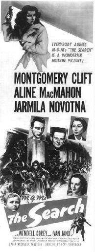 <p>Movie poster, <em>The&nbsp;Search</em></p>