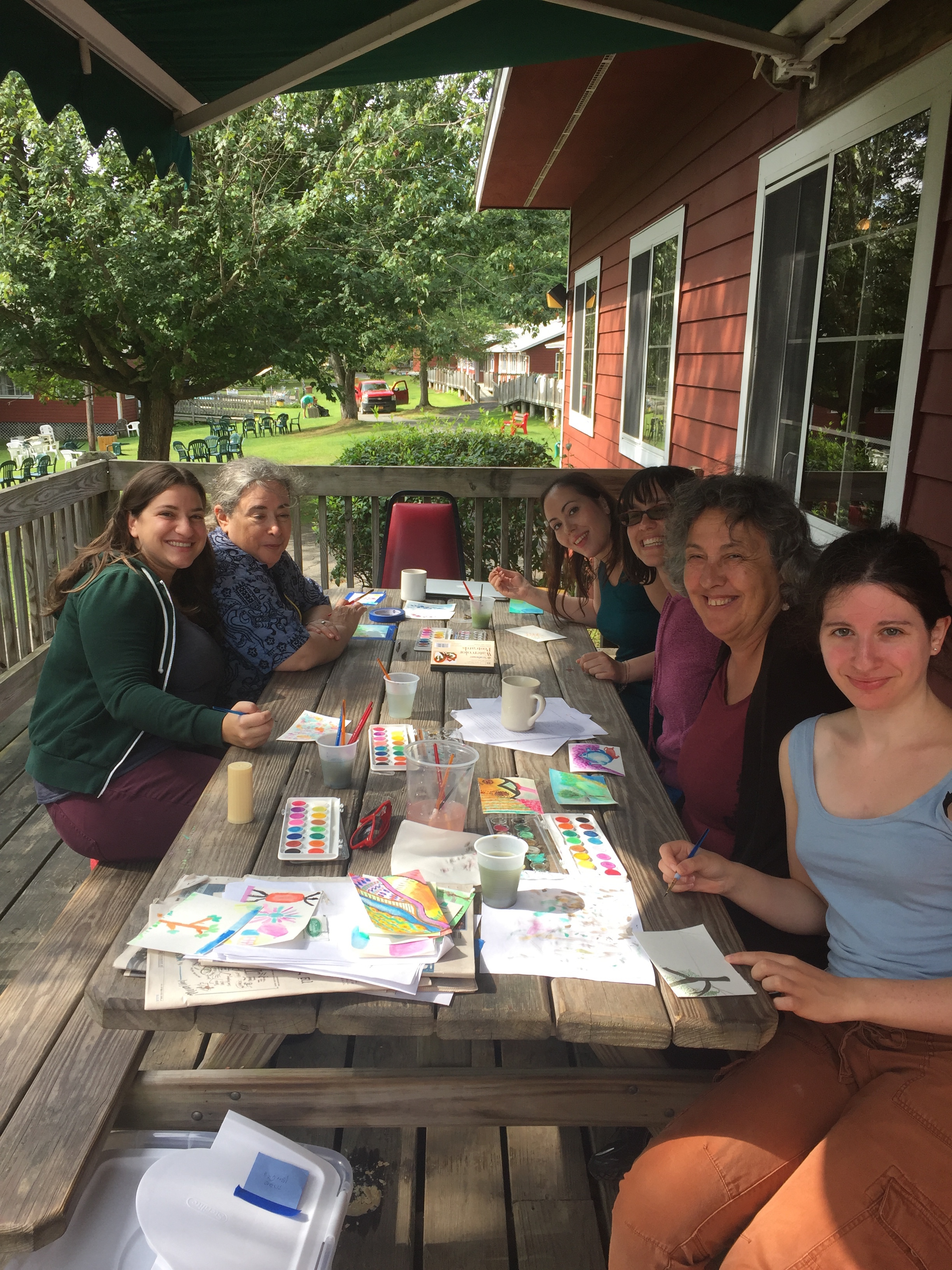 <p>Yiddish Vokh 2017 watercolors&nbsp;workshop</p>