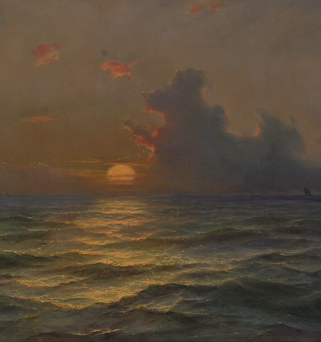 <p>Melbye, <em>Seascape </em>(detail)</p>