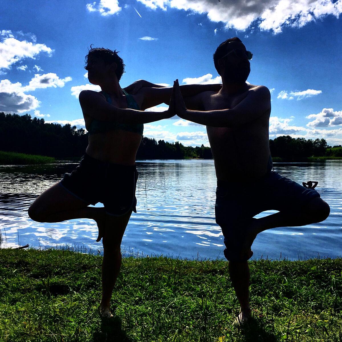 "<p>Alexx Shilling and Rob Adler Peckerar on Boksze Lake, Poland, July <span class=""numbers"">2017</span>. Photo: Lydia&nbsp;Ivanovic.</p>"