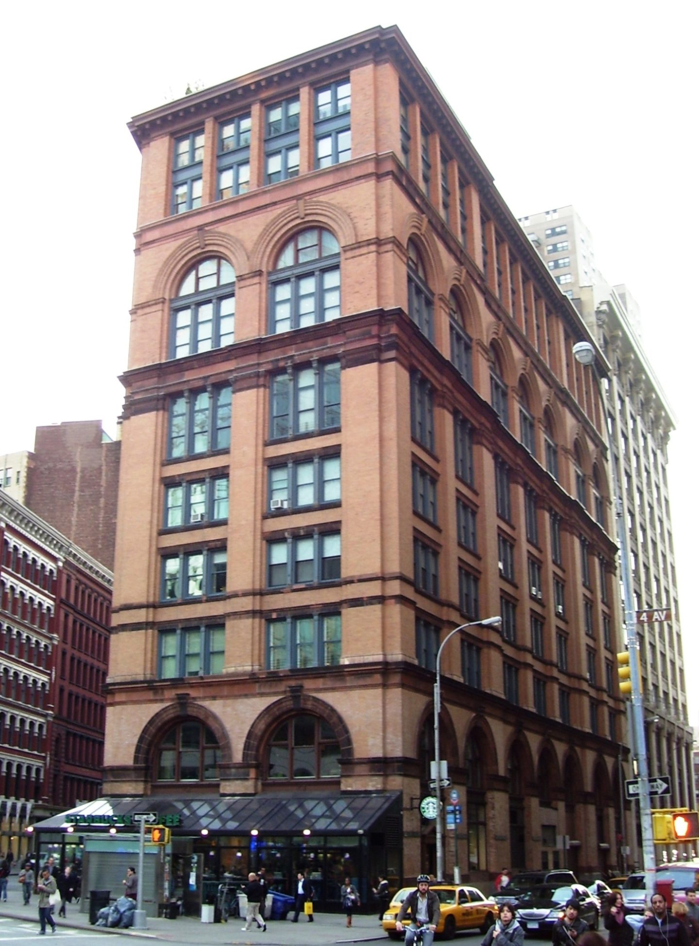 "<p>Contemporary view of 21 Astor Place, otherwise known as ""13 Astor Place"" and ""Clinton Hall"" built on the site of the original Clinton Hall and home to the <em>Institute far Yiddisher Bildung</em>. Image from&nbsp;<a href=""https://en.wikipedia.org/wiki/Astor_Place#/media/File:Clinton_Hall_Mercantile_Library_Bldg_13_Astor_Place.jpg"">Wikipedia</a>.</p>"