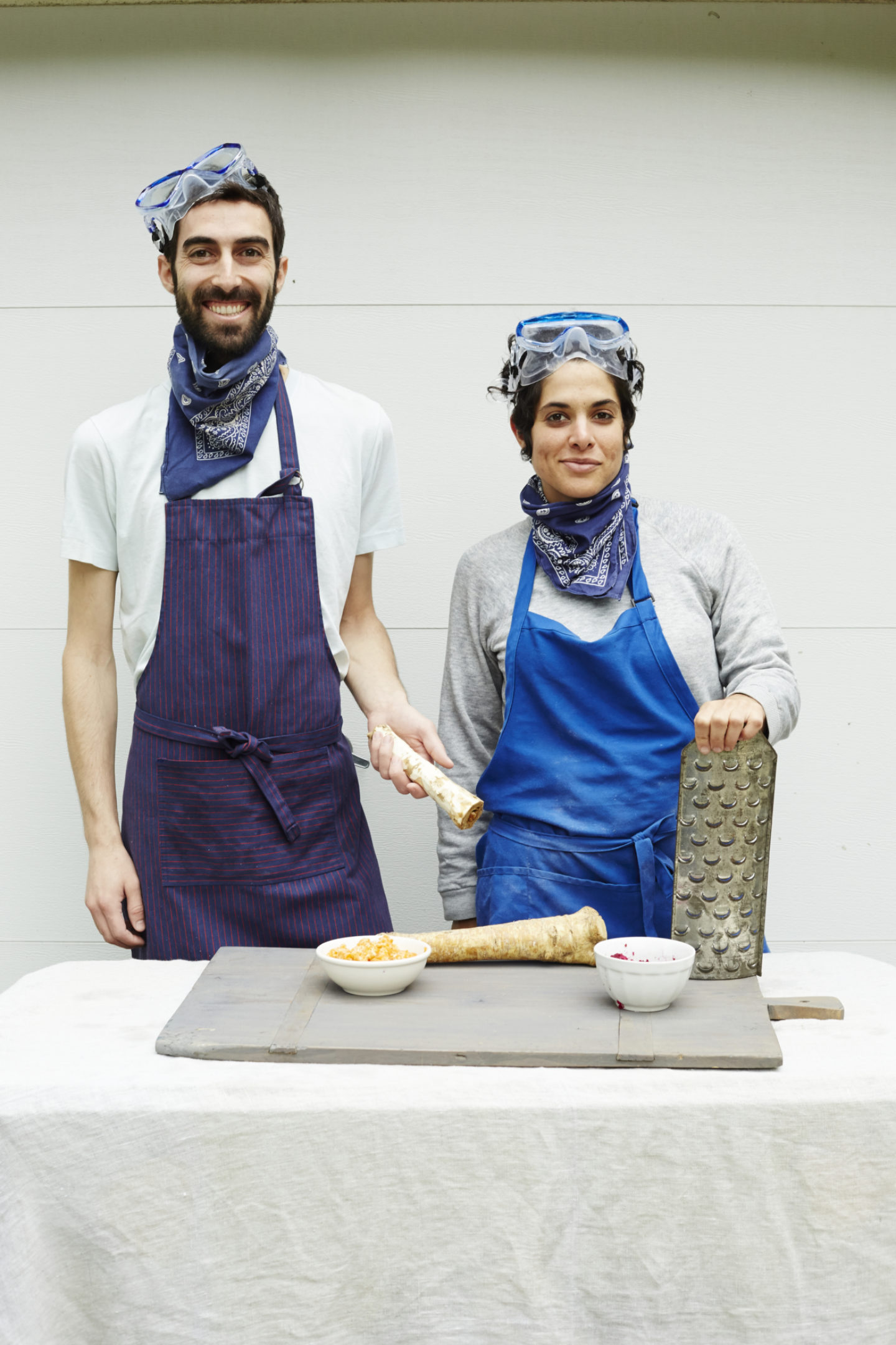 <p>Authors of <em>The Gefilte Manifesto</em>, Jeffrey Yoskowitz and Liz Alpern. Photo credit Lauren Volo. </p>