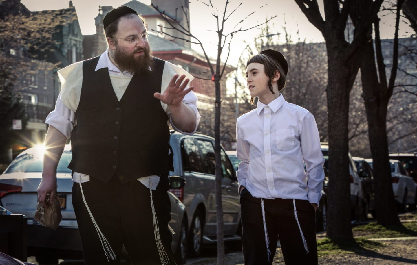 <p>Menashe Lustig and Ruben Niborski star in <em>Menashe.</em> Courtesy of Yoni Brook and Joshua Z Weinstein.</p>