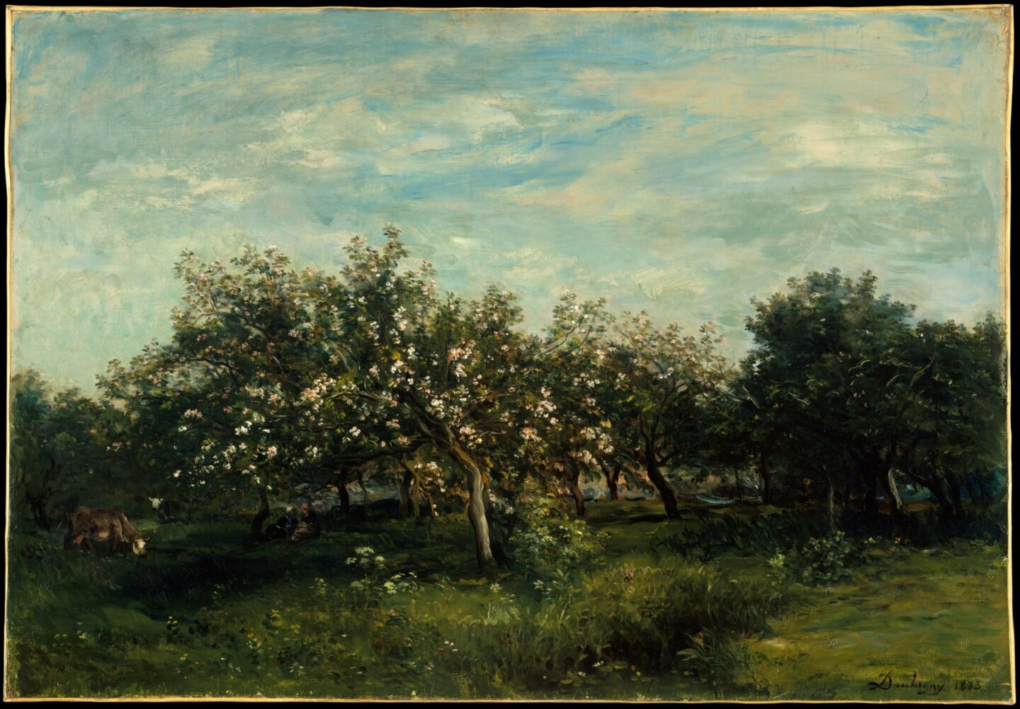 """<p>Image: Charles-François Daubigny, <em>Apple Blossoms</em> (<span class=""""numbers"""">1877</span>) via the <a href=""""https://www.metmuseum.org/art/collection/search/436085?searchField=All&amp;sortBy=Relevance&amp;ft=apple&amp;offset=0&amp;rpp=20&amp;pos=1"""">Metropolitan Museum of&nbsp;Art</a></p>"""