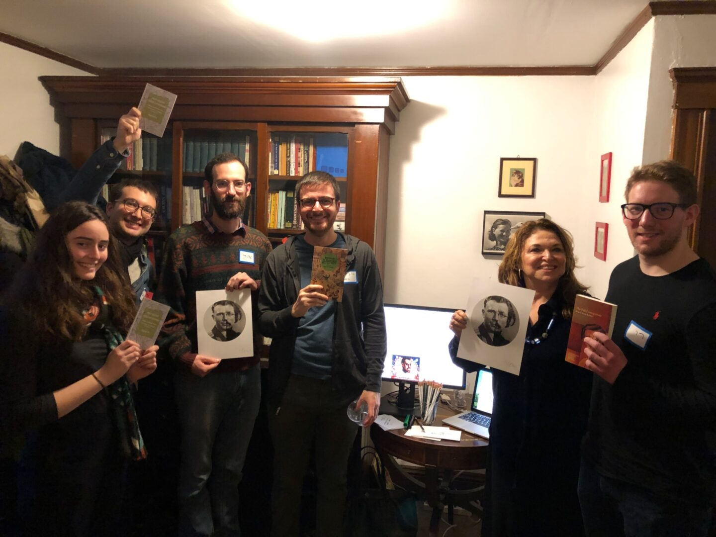 <p>Some of the happy raffle winners at our Belmont&nbsp;party.&nbsp;</p>