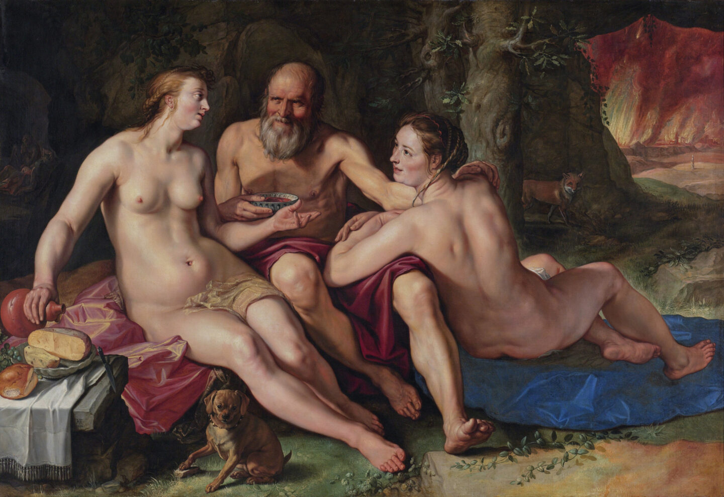 """<p>Lot and his Daughters, Hendrik Goltzius (<span class=""""numbers"""">1616</span>) in the collection of the Rijksmuseum.</p>"""