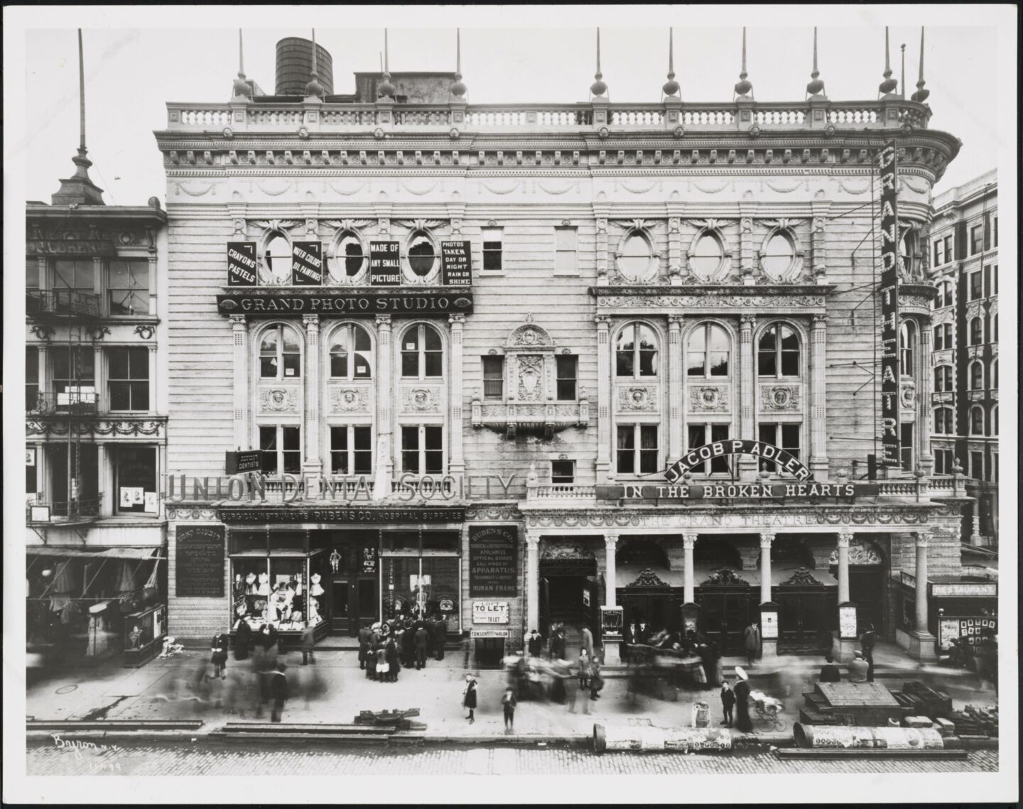 """<p>Grand Theatre presents Jacob P. Adler in <i>The Broken Hearts</i>, c. <span class=""""numbers"""">1903</span>. Photo: Byron Company. Museum of the City of New York, The J. Clarence Davies Collection, <span class=""""numbers"""">1929</span>.<span class=""""numbers"""">29</span>.<span class=""""numbers"""">100</span>.<span class=""""numbers"""">811</span></p>"""
