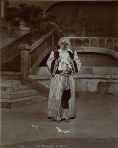 <p><em>Jacob Adler's Shylock tears his clothes after discovering his daughter's elopement and conversion. [Photo: Folger Shakespeare&nbsp;Library].</em></p>