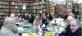 """<p>A Yiddish reading circle at the Jewish Cultural Centre and National Library <span class=""""push-single""""></span><span class=""""pull-single"""">'</span><a title=""""Kadimah"""" href=""""http://www.kadimah.org.au/"""" target=""""_blank"""">Kadimah</a>' in Melbourne,&nbsp;Australia</p>"""